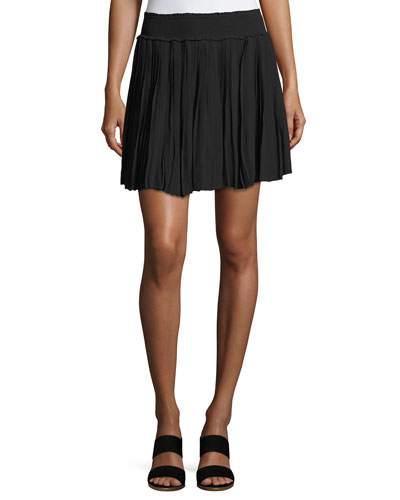 Bridger Smocked Mini Skirt, Black