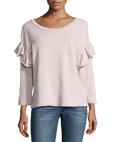 The Ruffle Sweatshirt, Lilac