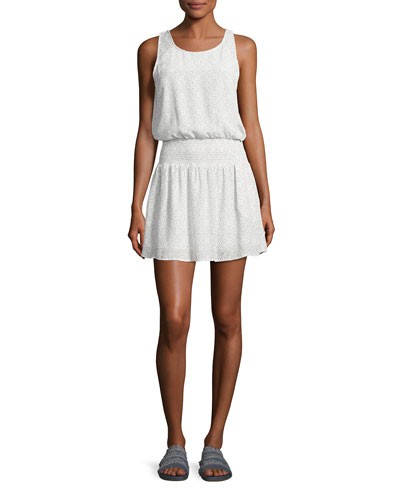 Lawska Sleeveless Silk Dress, White
