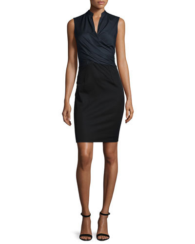 Laken Sleeveless Crossover Dress