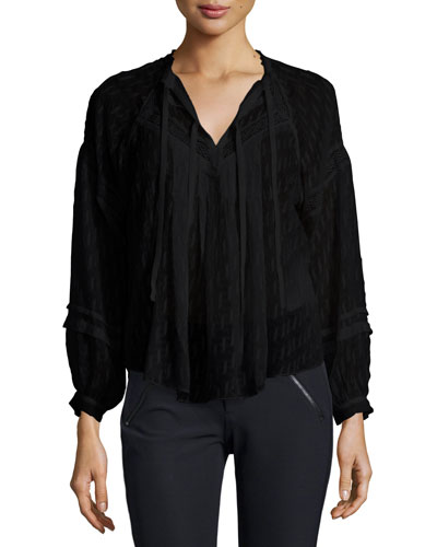 Lace-Trim Fil Coupe Top