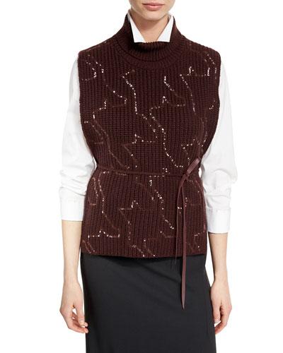 English Rib-Knit Sleeveless Sweater