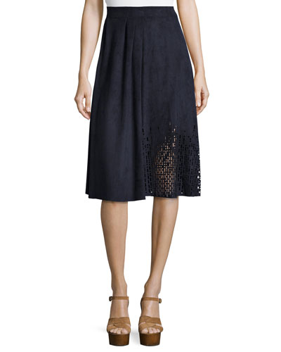 Lorie Pleated A-Line Skirt
