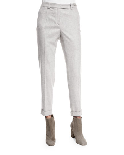 Jari Speckled Flannel Cuffed Pants