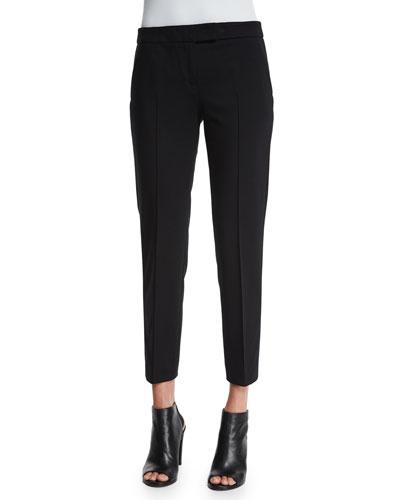 Frankie Slim-Leg Ankle Pants, Black