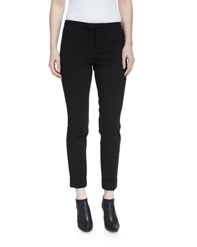 Slim Cropped Ponte Pants