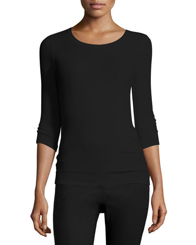 Jackie Knit Ballet Top, Black