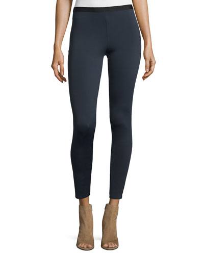 Cropped Neoprene Stretch Leggings