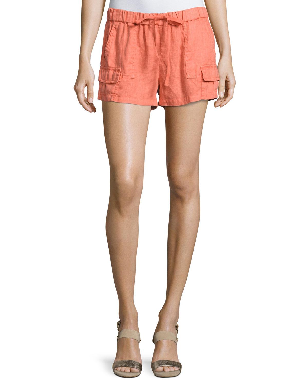 Ilya Short Linen Cargo Shorts