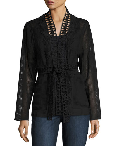 Maliah Textured Topper Jacket, Black