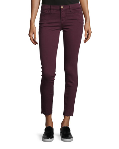 Le Skinny de Jeanne Raw Edge Jeans, Mahogany