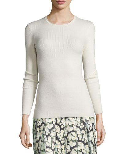 Long-Sleeve Open-Back Sweater