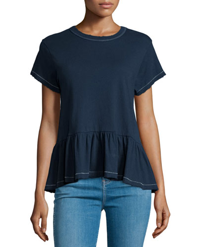 The Ruffle Short-Sleeve Tee