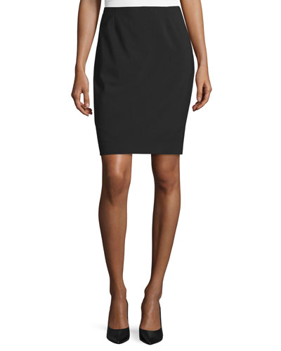 Bennet Short Pencil Skirt, Black
