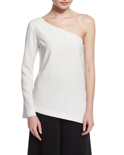 Layla One-Sleeve Blouse, Ivory