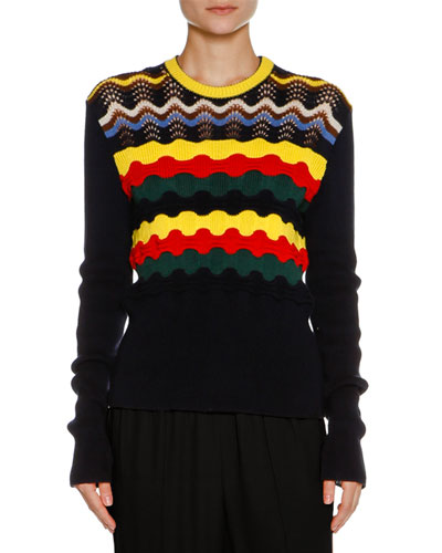 Multi-Stripe Cotton-Blend Sweater