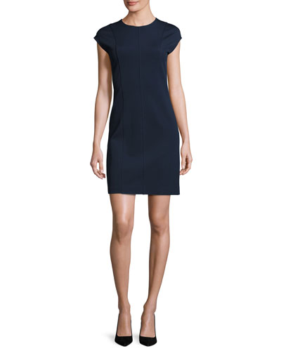 Onine Oxford Knit Day Dress, Blue