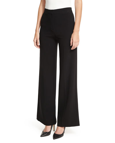 Terena Admiral Crepe Tailored Wide-Leg Pants