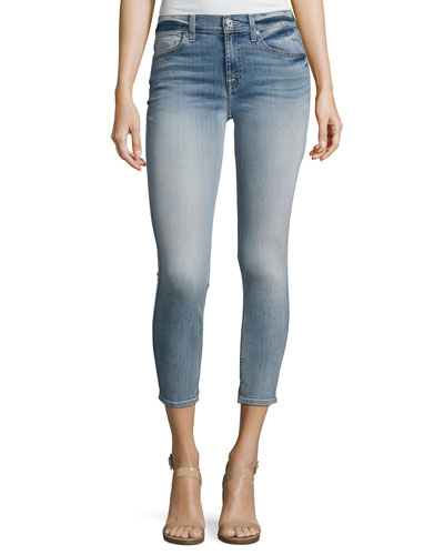 The Cropped Skinny Jeans, Indigo