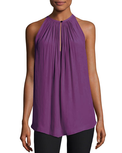 Piper Sleeveless Keyhole Top, Radiant Orchid