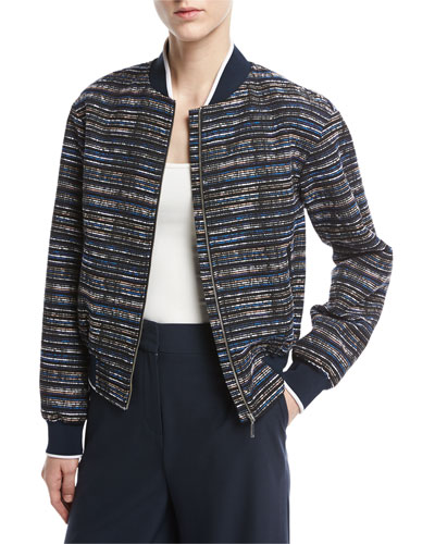 Scribble Tweed Bomber Jacket, Multi