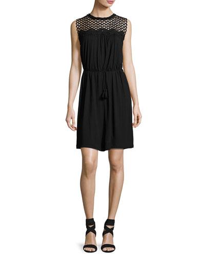 Meridian Crochet-Yoke Dress