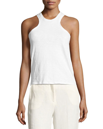 Samek B Nebulous Tank Top, White