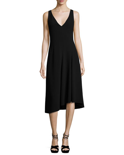 Tadayon B Elevate Crepe Sleeveless Cocktail Dress, Black