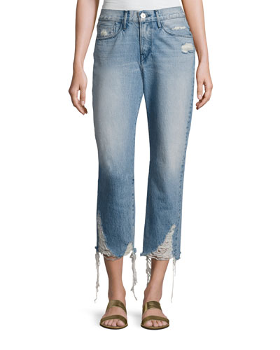 W3 Cropped Boyfriend Jeans, Higher Ground