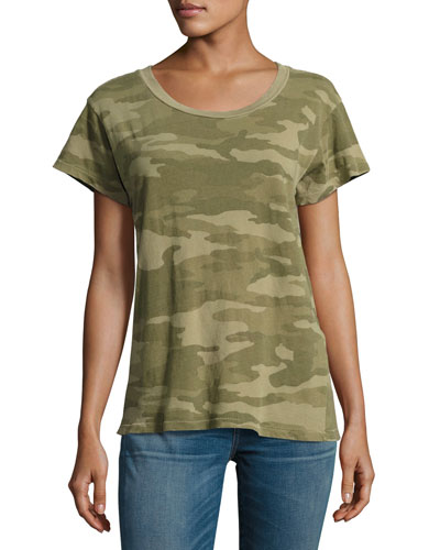 The Crewneck Camouflage Tee, Green