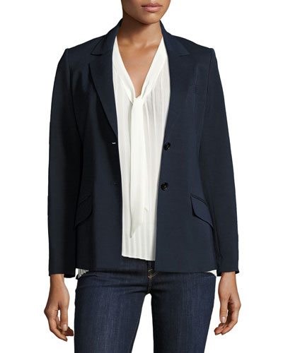 Easy Two-Button Blazer, Navy