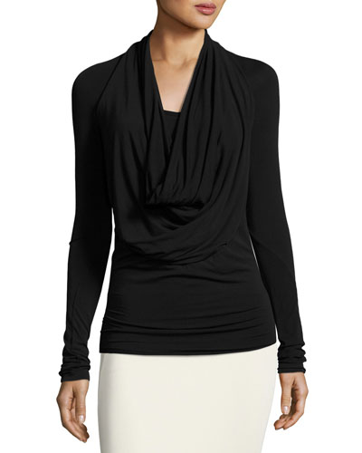 Viscose Cowl-Neck Top