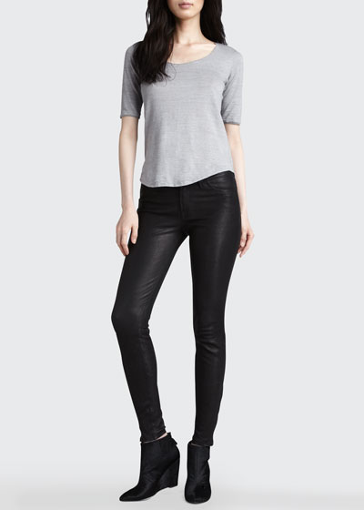 L8001 Leather Leggings