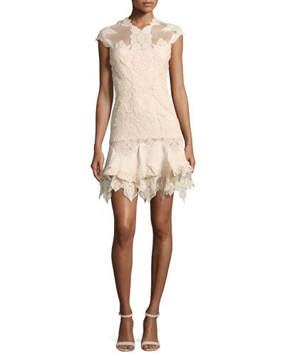 Multimedia Corded Ruffled Mini Dress