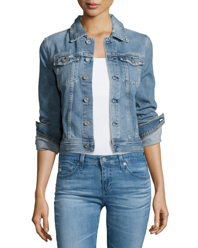 Robyn 12 Years Sunrise Cropped Denim Jacket, Indigo