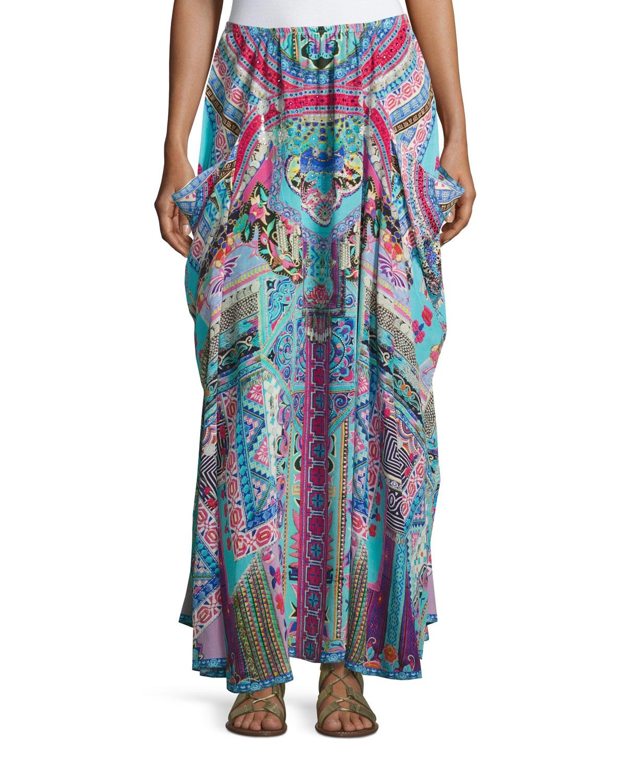 Embellished Silk Convertible Skirt Dress, Festival Friends
