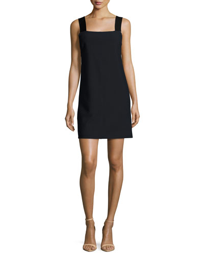 Carina Sleeveless Ponte Shift Dress, Dark Navy