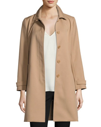 Dafina Prospective Single-Breasted Car Coat, Palomino (Brown)