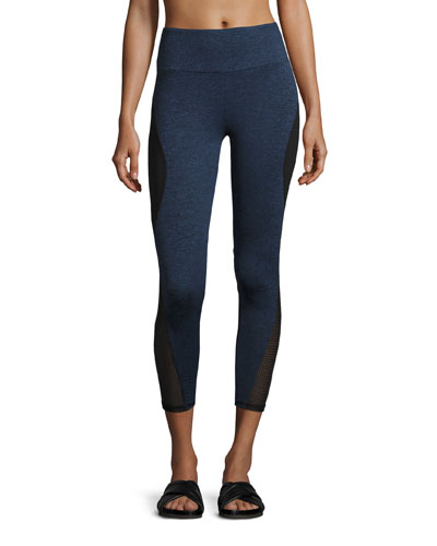 Brodi Curve Paneled Performance Leggings, Navy