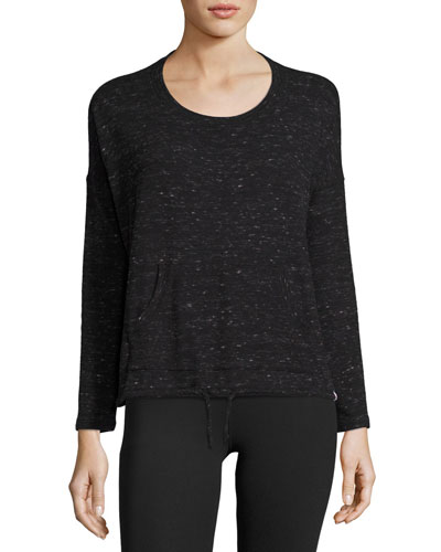 Renew Scoop-Neck Pullover Performance Top, Black