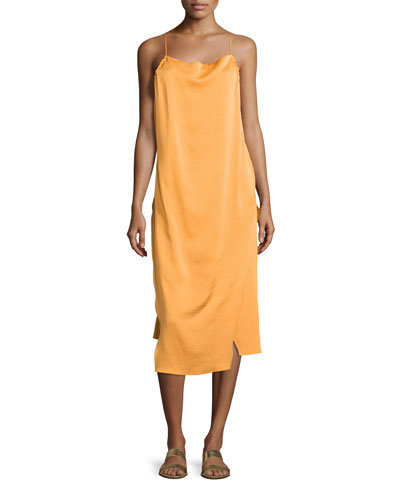 Altara Midi Slip Dress, Medium Yellow