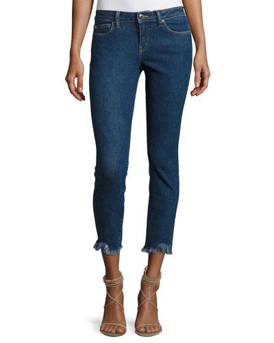 Jarod Cropped Mid-Rise Skinny Jeans, Blue