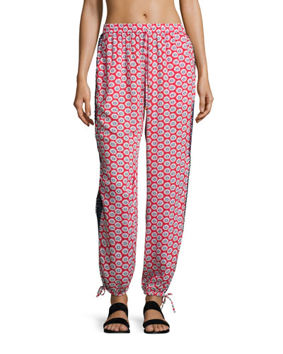 Primrose Viscose Beach Pants, Red