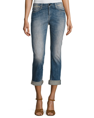Charlotte Mid-Rise Boyfriend Jeans, Intemporel Indigo