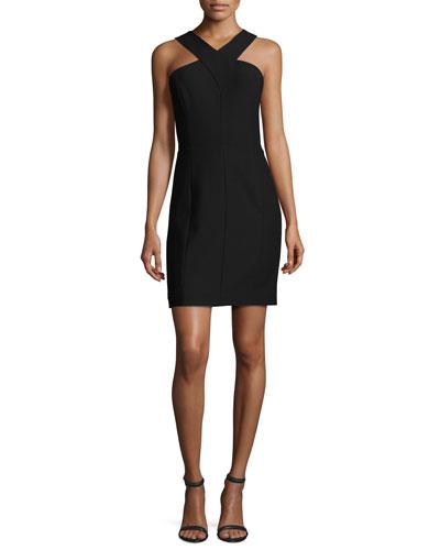 Elliot Sleeveless Ponte Mini Dress, Black