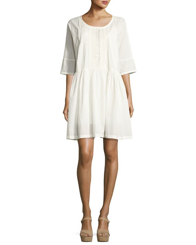 The Lacey Cotton Dress, White
