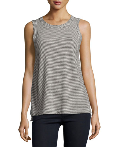 The Muscle Tee Top, Gray