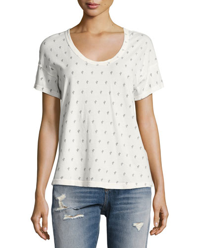The Slouchy Scoop Cactus Tee, White