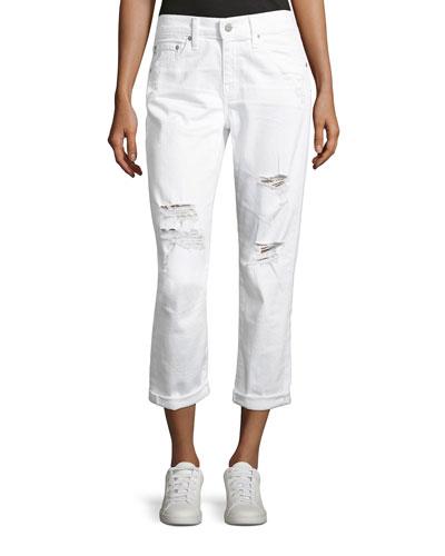 Ex-Boyfriend Slim Denim Jeans, White