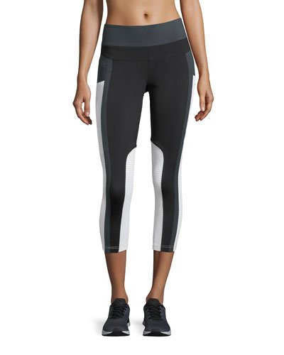 Allegro Crop High-Waist Performance Leggings, Black